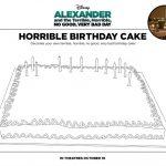 Free Printable Disney Alexander Horrible Birthday Cake Coloring Page