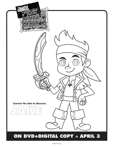 izzy jake and the neverland pirates coloring pages - jake the neverland pirates printable coloring sheet