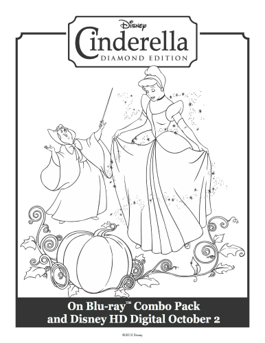 Cinderella's Magical Transformation Printable Coloring Sheet