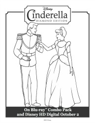 Cinderella and The Prince Printable Coloring Sheet