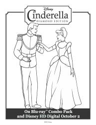 Cinderella and The Prince Printable Coloring Sheet