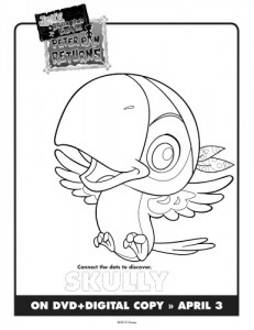 Jake & The Neverland Pirates Printable Skully Coloring Sheet