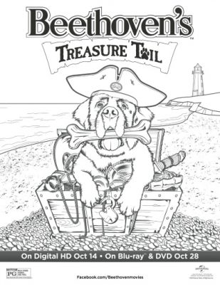 Beethovens Treasure Tail Coloring Page