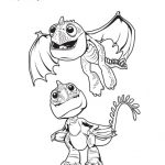 Baby Dragons Coloring Page