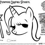 Free Printable My Little Pony Halloween Pumpkin Stencil