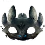 Free Printable Toothless Dragon Mask