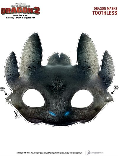 image regarding Printable Dragon Mask named Absolutely free Printable Toothless Dragon Mask Mama Likes This