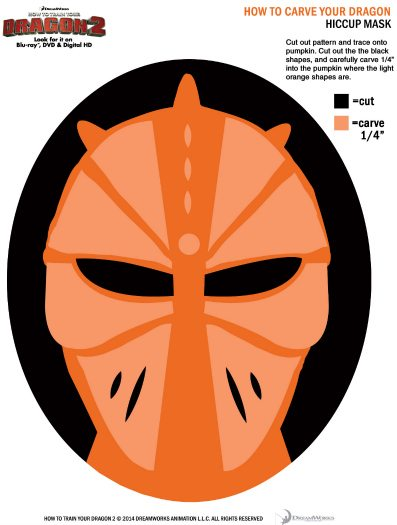 How to Train Your Dragon 2 Printable Halloween Pumpkin Stencil