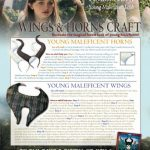 Free Printable Maleficent Horns & Wings Halloween Craft