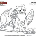 How to Train Your Dragon 2 Coloring Sheet – Hiccup and Toothless