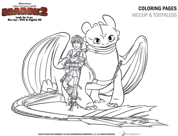 how to train your dragon 2 coloring sheet  u2013 hiccup and