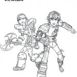 How to Train Your Dragon 2 Coloring Page – Astrid and Hiccup