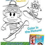 Julius Jr. Snow Monkey Holiday Coloring Sheet