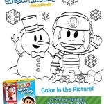 Julius Jr. Snow Monkey Adventures Coloring Page