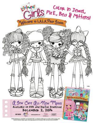 Free Printable Lalaloopsy Girls Coloring Page