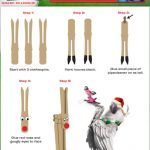 Holiday Clothespin Reindeer Craft