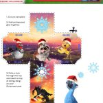Free Rio 2 Printable Holiday Ornament Craft