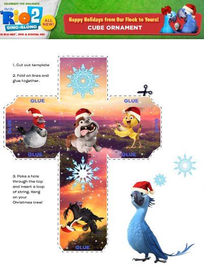 Free Rio 2 Printable Holiday Ornament Craft