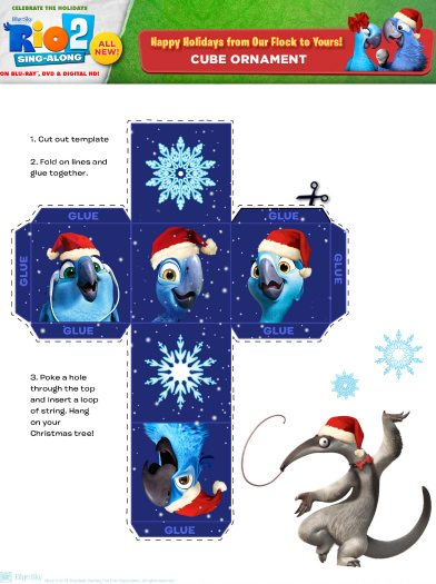 Free Printable Rio 2 Holiday Ornament Craft