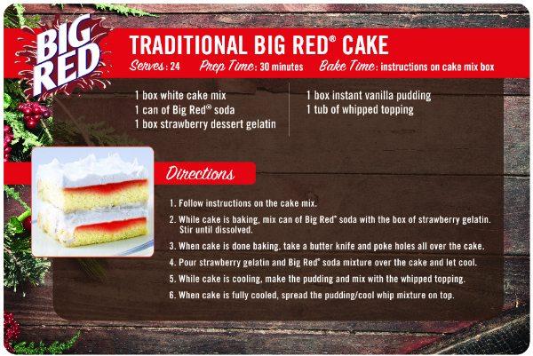 Big Red Soda Pop Cake