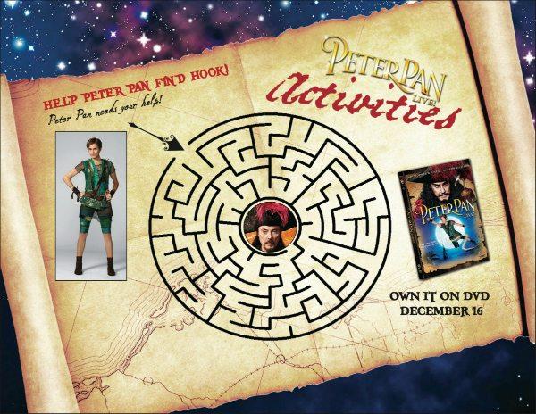 Free Peter Pan Live Printable Maze