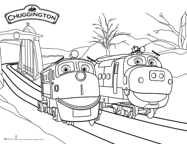 Chuggington Coloring Pages Pdf : Chuggington snow rescue coloring page mama likes this