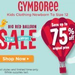 Gymboree up to 75% Off