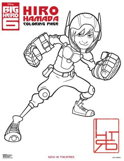 Free Hiro Hamada Big Hero 6 Printable Coloring Page