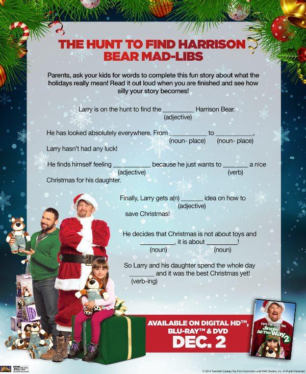 Free Printable Jingle All the Way Holiday Mad-Libs | Mama Likes This