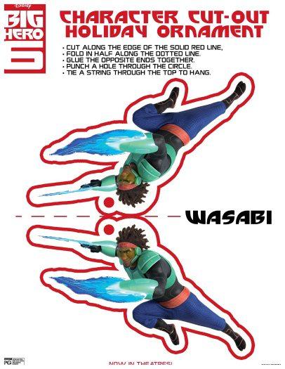 Free Printable Big Hero 6 Wasabi Holiday Ornament Craft