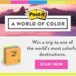 Post-It World of Color Sweepstakes – EXPIRED