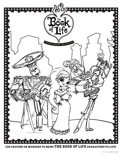 Book Of Life Printable Coloring Page