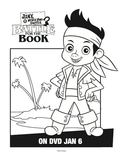 Jake and the Neverland Pirates Coloring Page  Mama Likes This