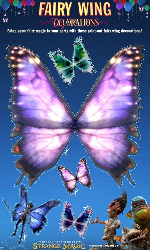 graphic regarding Free Printable Fairy Wings known as Absolutely free Printable Craft - Unconventional Magic Fairy Wing Decorations