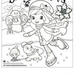 Free Printable Strawberry Shortcake Coloring Page