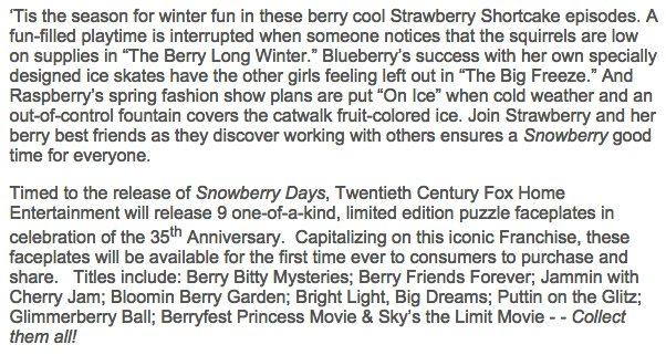 Strawberry Shortcake: Snowberry Days DVD