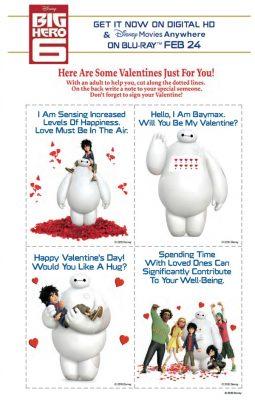 Free Disney Big Hero 6 Printable Valentine's Day Cards