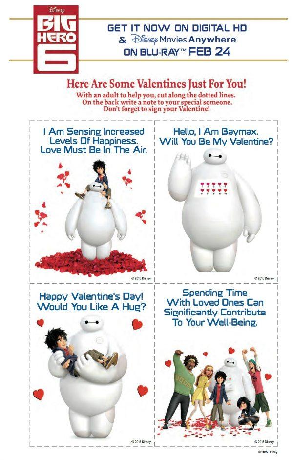 Free Disney Big Hero 6 Printable Valentines Day Cards – Disney Valentine Cards Printable
