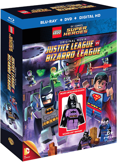 Lego Justice League vs. Bizarro League Blu-ray DVD Combo