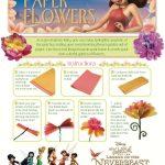 Disney Tinker Bell Paper Flowers Craft