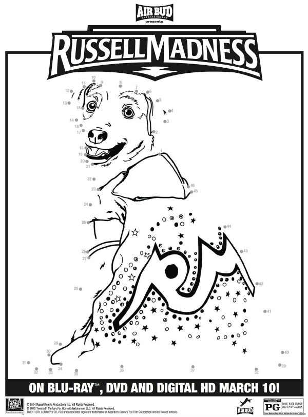 Russell Madness Connect the Dots Coloring Page