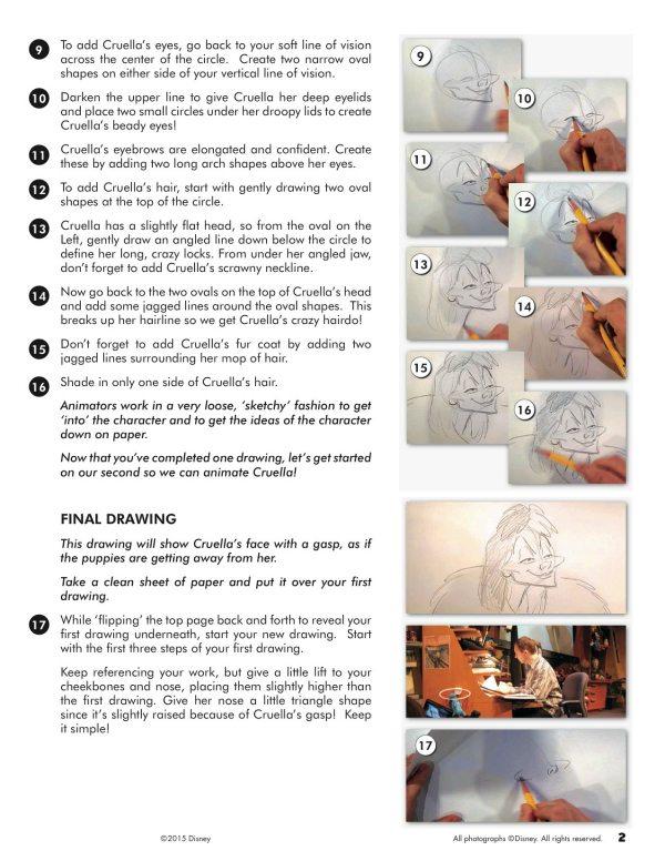 How to Draw Cruella De Vil from Disney's 101 Dalmatians
