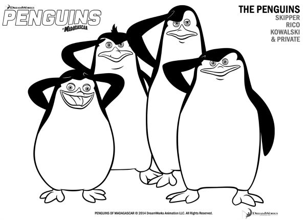 photo regarding Printable Pictures of Penguins titled Free of charge Printable Penguins of Madagascar Coloring Site Mama