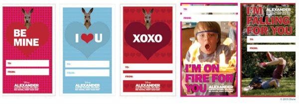 Free Printable Disney Alexander Valentines