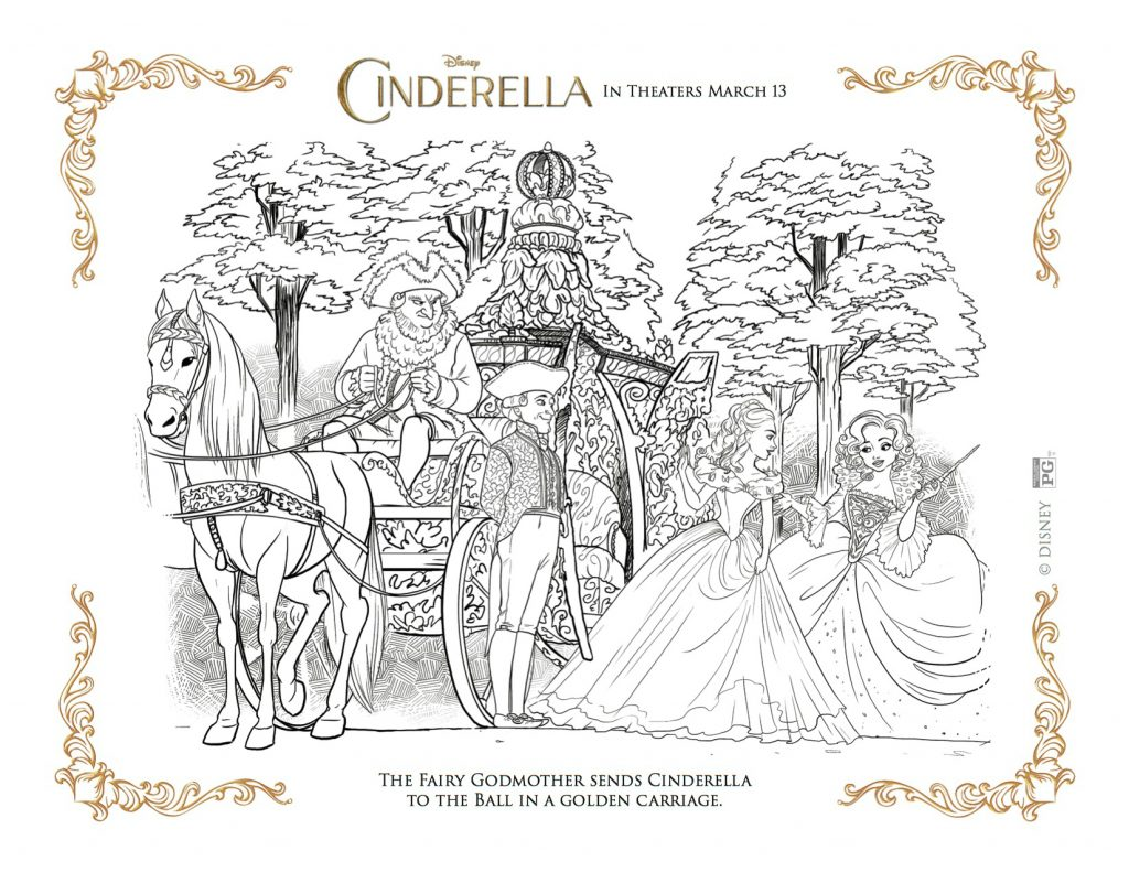 Free Disney Printable - Cinderella's Golden Carriage Coloring Page