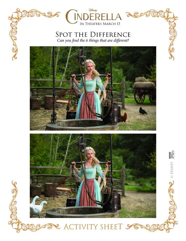 Disney Cinderella Spot the Difference