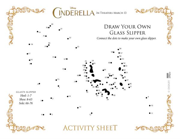 Free Printable Cinderella Connect the Dots