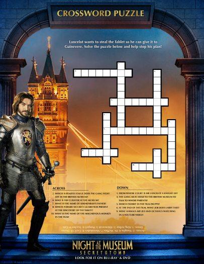 Night at the Museum Crossword Puzzle