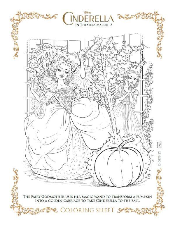 Cinderella Coloring Pages 12printablecoloring