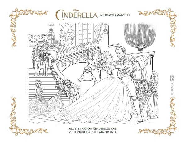 Frozen Wedding Coloring Pages : Free disney coloring page cinderella and the prince at